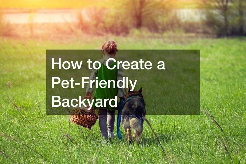 pet friendly yard ideas